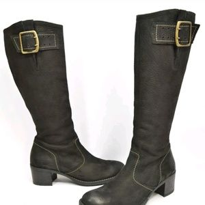 PAUL GREEN  Kendra Knee High Buckle Boot.sz7.5 us